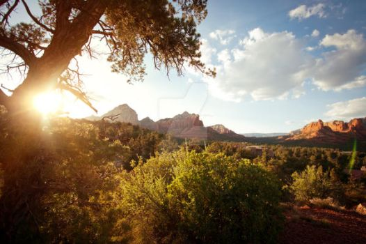 Sedona sunset by stelianpopa