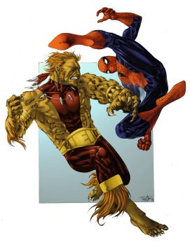 Spidey vs Puma - SpderFan2099 by SpiderGuile