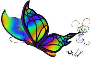 Rainbow Butterfly by kay-ler