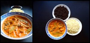 Exotic Tomato Curry With Green Vegetables by Daedhalus