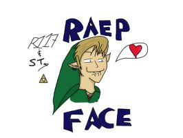 RAEP FACED LINK by bunnysmiles