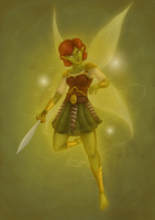 Fae Warrior by AmbeeAnimation