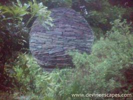 Full Moon (dry stone sculpture) by Devine-Escapes