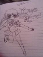 My attempt to draw yuno gasai from mirai nikki by punkrockgirl555