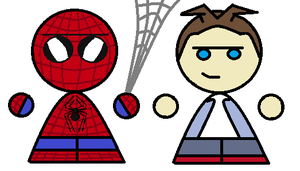 Spidey and parker chibis by Endeavor4ever