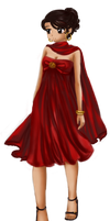 Red Dress by Tsuki-Yue