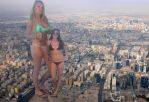 Giantess College Girls in the City by ilikemercs