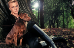 Tom Felton and his dog Timber by feltsbiannn