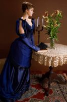 Victorian blue gown by GrimildeMalatesta