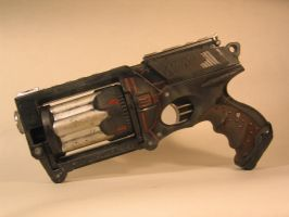 Ebony, A Dieselpunk gun Left by EricTcrow