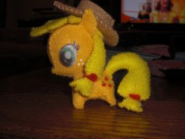 Mini Felt Applejack Plushie by Bunnygirl2190