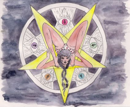 Pentagram Girl by accidentalsounds