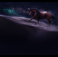 she walks in starlight, by lairelark