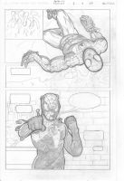 Spider-Man Comic page 3 pencils by IronWarrior777