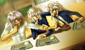 Bakura's at lunch by AngelLust155