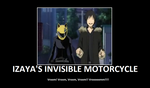 Izayas Invisible Motorcycle by xHay-Chanx