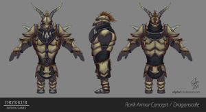 Dragonscale Armor Concept by slipled