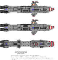 Piconese 'Hyperion' Strike Cruiser by TraceCoburn