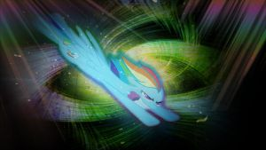 Rainbow Dash Sonic Rainboom Wallpaper by TygerxL