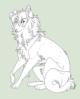 Free dog lineart by Lerynn