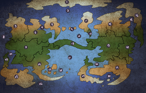 Arcendell World Map by UltimateSassMaster