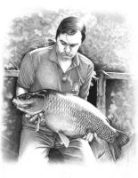 Les Bamford at Redmire pool - carp fishing by Craig-Stannard