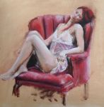 Red chair by Helenupton