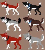 Husky Adoptables :open: by bluecherryshelter