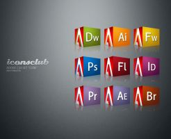 Adobe CS3 Set 'CUBE' by IconsClub