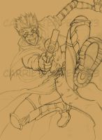 Vash the Stampede Sketch by Carrie-Tempest