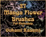 27 Manga Flower Brushes by OokamiKasumi