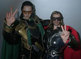 Loki and Thor by Catskind