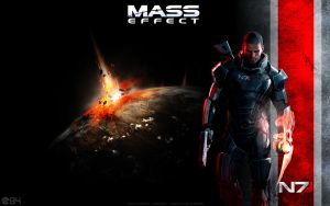 Mass Effect Male Shepard Wallpaper by energy84