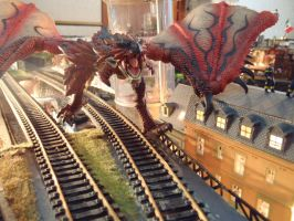 Red Rathalos Dragon Attack by Krulos