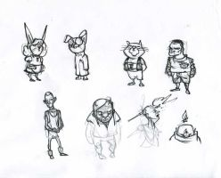 Page of sketches by lepetitgroin