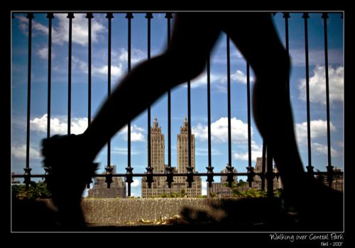 walking over Central Park by Frall