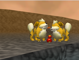 Pokemon Snap Growlithe by SusanLucarioFan16