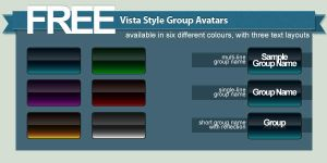 Free Vista Style Group Avatars by TehAngelsCry