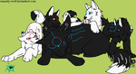 Luna, Issun, and the pup's. by Maria65
