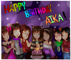 .:Collab/Gift:. Happy B-Day, Aika!~ by TheCookieLuigiArtist