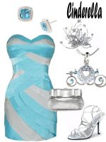 Disney Fashion: Cinderella (Ball Dress) by EvilMay