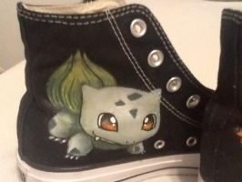 Bulbasaur Custom Shoes by BreannaKayEvans
