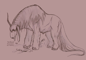 Herdbeast male by moonfeather