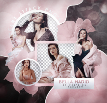 +Bella Hadid   Pack Png. by Heart-Attack-Png