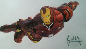 Iron Man by Solla-Damian