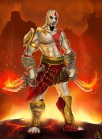 Kratos  - god of war - by TheFearMaster