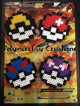 Pokeballs by PolymerclayCreations