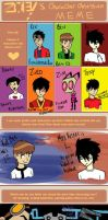Character Obsession Meme by RexFangirl