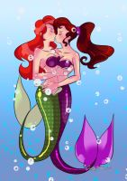 Ariel and Meg Mermaid Passion by Pronon1990