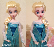 Snow Queen Elsa OOAK doll by frozenblume
